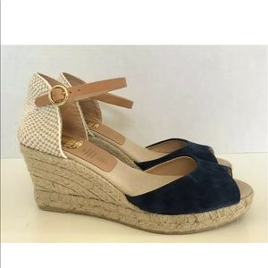 Kanna espadrille navy shoes size 37 or 6.5.